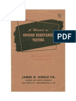 Manual of Ground Resistance Testing - With Your Megger - Biddle (1947) WW