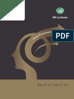 IIM Lucknow Final Placements Brochure