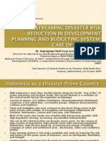 Indonesia Bap Penas Mainstreaming Drr In