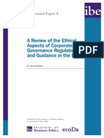 A Review of the Ethical Aspects of Corporate Governance Regulation and Guidance in the EU