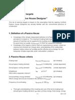 Indicatori Passive House