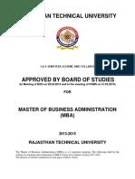 Scheme Syllabus of MBA