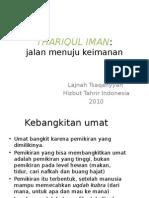 1- Thariqul Iman