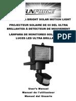 Solar Light Owner's Manual