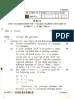 Previous Year UPTU End Sem Exam Papers - SOM / MOS   Paper 6