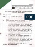 Previous Year UPTU End Sem Exam Papers - SOM / MOS   Paper 2