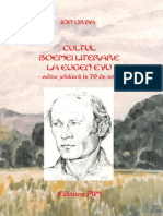 Ion Urda - Cultul Boemei Literare La E.evu - Editie Jubiliara 70 Ani