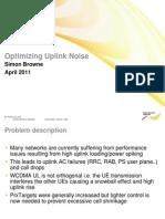 Optimizing Uplink Noise