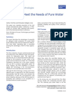 GE EDI Pure Water Production