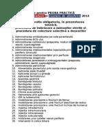 100 Teme Pentru Proba Practică 2014 (1)