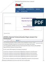 APSPDCL Electrical Technical Question Papers Answers Free Download PDF