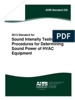 Sound Intensity Testing
