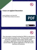 Focus on Apparel Decoration