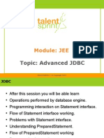 Advanced JDBC