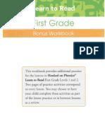 First Grade Bonus Workbook Odd Pages