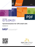 075 Synchronization for LTE Small Cells