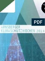 Flyer Arnsberger Klimaschutzwochen 2014