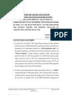Adjudication Order against Southern Fuel Ltd.