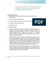 GeoCapacity DiplomaHAIGES Programa Especificaciones 2014