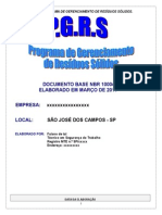 PGRS Programa de Gerenciamento de Residuos Solidos