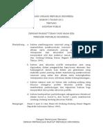 UU No.5 Tahun 2011 Tentang Akuntan Publik
