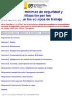 R.D. 1215_1997 Utilizacion de Equipos de Trabajo