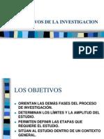 Objetiv Os Del a Investigacion