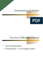 General Examination Technique