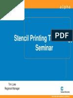 Stencil Printing Presentation