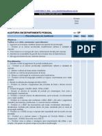 Checklist de Auditoria Departamento Pessoal