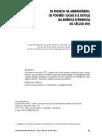 Os Espaços Da Ambiguidade Os Poderes Locais e a Justiça Na America Espanhola Do Seculo CVII