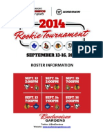 2014 Rookie Tournament - Roster Information