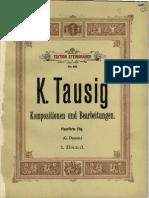 Originalkompositionen Und Bearbeitungen Klassischer Werke Für Pianoforte (Tausig, Carl) Cover