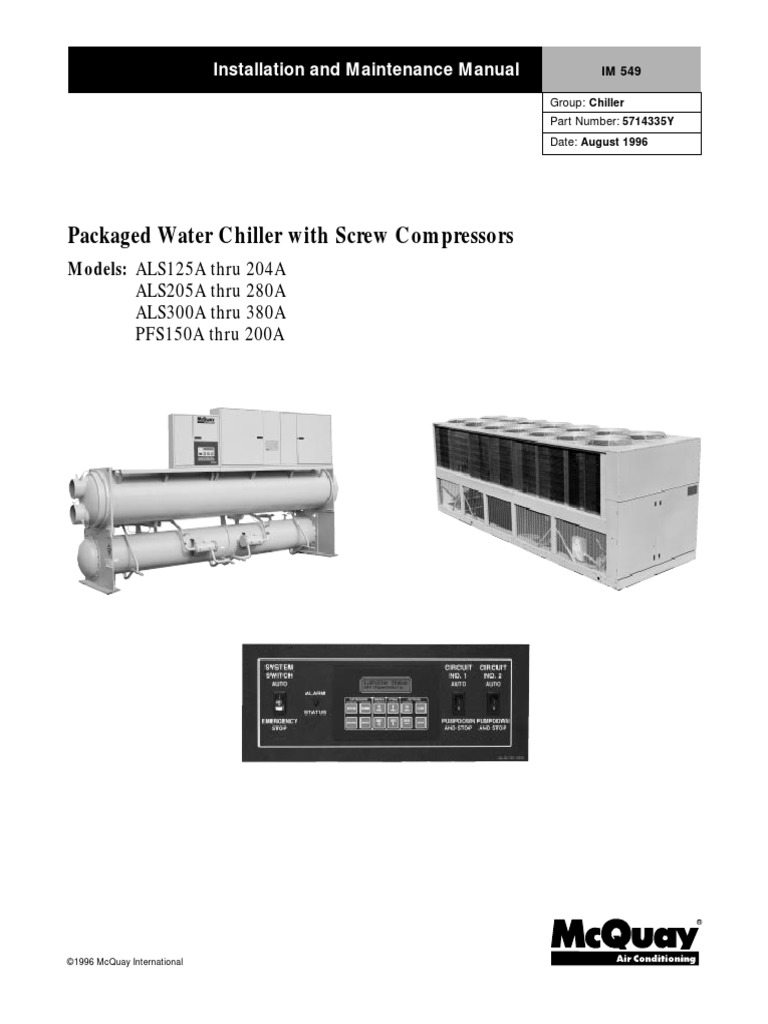 McQuay_ALS_PFS_C_Technical_manual_Eng.pdf | Power Supply | Switch