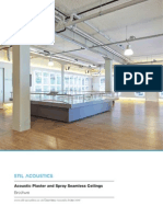 Acoustic Plaster and Spray Brochure
