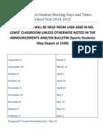 s2s meeting dates 2014 2015