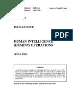 B-GL-357-002 Human Intelligence (HUMINT) Operations