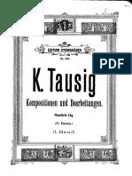 Originalkompositionen Und Bearbeitungen Klassischer Werke Für Pianoforte (Tausig, Carl) Volumen 3
