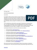 isgr start of year letter 2014-15