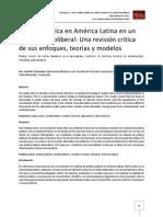 Política pública en América Latina en un contexto neoliberal