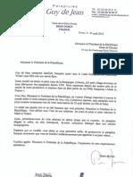 Lettre à Monsieur Hollande