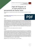 La fenomenología del lenguaje y el concepto de la razón práctica en el pensamiento de Charles Taylor