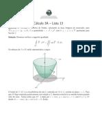 Lista13 - Teorema de Stokes – Teorema Das Equivalências