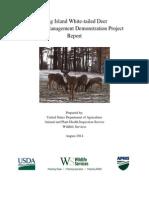 2014 East End Deer Damage Management Report