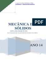 Mecânica Dos Solidos - Lista de Exercicios Reação de Apoio