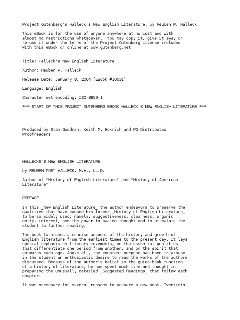 Hallecks new english literature by halleck reuben post 1859 1936 hallecks new english literature by halleck reuben post 1859 1936 beowulf germanic peoples fandeluxe Images