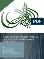 Types of Antigen Antibody Reactions