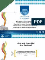 Carreras Universitarias - Bachillerato Humanístico - Diapos Set. 2012