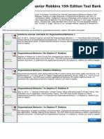Essentials Of Organizational Behavior Robbins Pdf