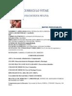Curriculo Vitae Rosa Dasilva
